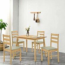 GOLDFAN Esstisch mit 4 Stühlen Rechteckiger