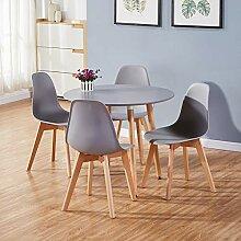 GOLDFAN Esstisch mit 4 Stühlen Rund Esstisch aus