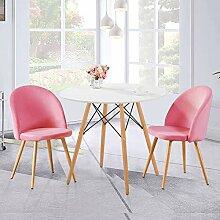 GOLDFAN Runder Esstisch mit 2 Stühlen Moderner