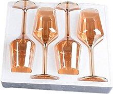 Goldfarbe Weinbecher Bleifreies Kristallglas