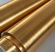 Goldfarbene Edelstahl-Tapete, selbstklebend,