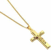 Goldfarbenes Kreuz-Armband für Herren,