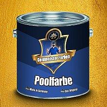 Goldmeister Farben Schwimmbeckenfarbe meisterhafte Poolfarbe Pool-Beschichtung Schwimmbecken-Beschichtung Badbeschichtung in Blau, Weiß und Grün (2,5 L, Blau)
