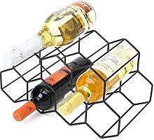 GoldOrcle Weinregal aus Metall, freistehend, für