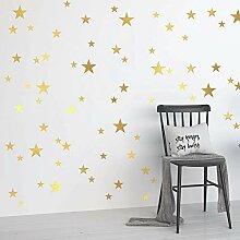 Goldsterne Wandaufkleber Schlafzimmer Kinderzimmer