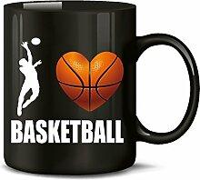 Golebros I Love Basketball Fan Fanartikel Tasse