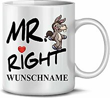 Golebros Mr Right Wunsch Name Esel 6308 Tasse