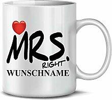 Golebros Mrs. Right Wunsch Name 6307 Tasse Becher