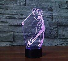 Golf 3D-Licht Bunte Note Aufladung LED visuelle