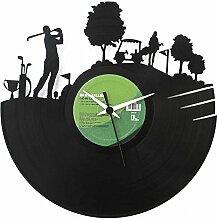Golf, Geschenkidee aus Vinyl, Golfspieler, Schwarz, Vinyluse original