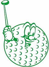 Golfball Aufkleber 008, 50 cm, gruen