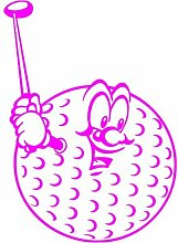 Golfball Aufkleber 008, 50 cm, pink