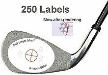 golftarget Golf Impact Etiketten Target Aufkleber