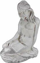 GOM Classico Garten Figur nackte Frau Lettura Buch