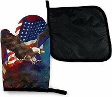 gong Eagle Flay Rot Blau Amerikanische Flagge