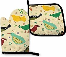 gong Retro Bird Cartoon Dinosaur buntes Blatt