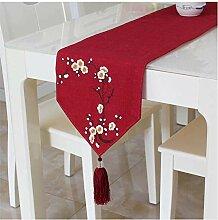 GONG Tischläufer Elegante Tischläufer Quaste