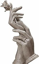 GONGFF Handwerk Dekorationen Handheld Rose