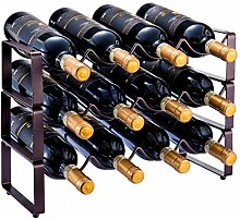 GONGSHI Weinregal, 3 Ebenen, stapelbar, für 12