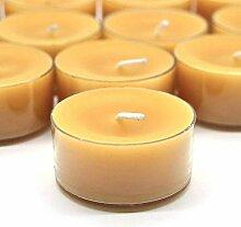 gongxi 12 Stück Natürliche Bienenwachs Teelicht