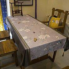 gongyu Chinesischer Stil Home Tischdecke, silber, 120cm*120cm