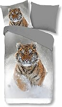 Good Morning Bettwäsche 2052 Snow Tiger Grau
