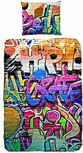 Good Morning! bettwäsche Graffiti, 100%
