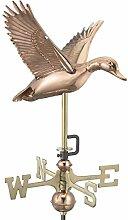 good Richtungen 8844pg Garten Fliegende Ente Wetterfahne, Kupfer poliert mit Garten Pole