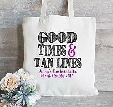 Good Times and Tan Lines Tote Bag Custom Tote Bag