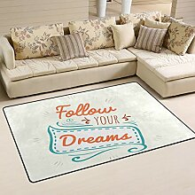 Good Vibes Teppich, für Wohnzimmer, Schlafzimmer,