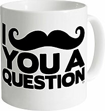Goodie Two Sleeves Moustache Becher, Weiß