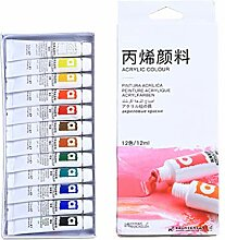 goodluccoy 12/24 Farbe Acrylfarben Pinsel 12ml