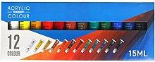 goodluccoy 12/24 Farben Künstler Acrylfarben 15ml