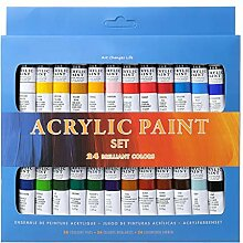 goodluccoy 24 Farben Acrylfarben Set 12ml Tuben
