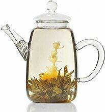 Goods & Gadgets Teekanne aus Glas mit Teefilter