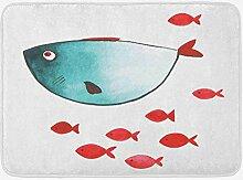 Goodshope Kinderzimmer-Badematte, Fisch mit wenig