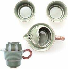 Goodwei Chinesisches Tee-Set aus Seladon-Porzellan