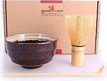 Goodwei Japanisches Matcha-Set, 3-teilig (Kumo)