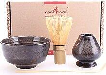 Goodwei Japanisches Matcha-Set mit Besenhalter,