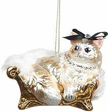 Goodwill Posh Katze auf einem Sofa Hand geblasen