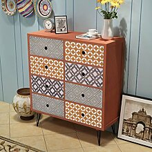 GoodWork4UEu Sideboard 8 Schubladen Braun Möbel