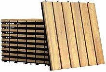 GOPLUS 10er Set Terrassenfliesen aus
