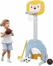 Goplus - 3-in-1 Kinder Spielplatz, Basketballkorb