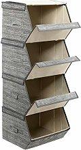 GOPLUS 4-Pack Aufbewahrungsboxen,