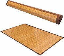 GOPLUS Bambusteppich, Bambusmatte, Teppich, für