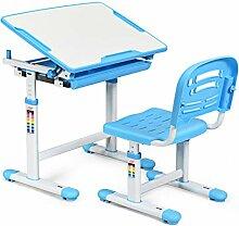 GOPLUS Kindertisch mit Stuhl, Kinderschreibtisch