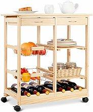 GOPLUS Küchenwagen Servierwagen Küchentrolley