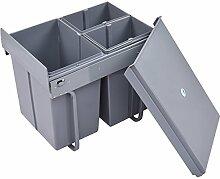 GOPLUS Mülltrennsystem Einbaueimer Abfallsammler