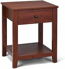 Goplus Nachttisch aus Holz, Flurtisch Braun,