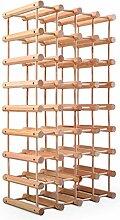Goplus Weinregal Holz, Flaschenregal für 40